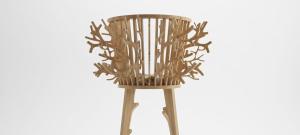 Branch chair la chaise nature par le studio Fajno