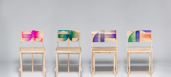 Patterned Pallet Chair par le studio Craft Combine